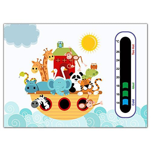 Baby Safe Ideas Animal Ark Nursery Room Thermometer Card