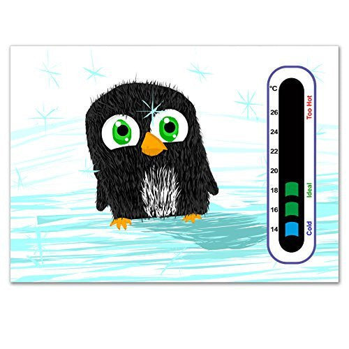 Baby Safe Ideas Penguin Nursery Room Thermometer Card