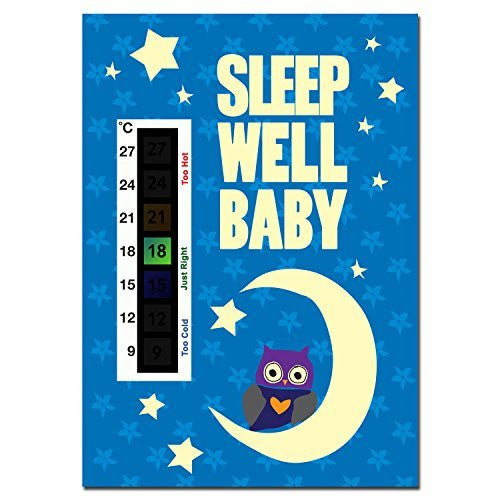 Sleep Well Baby Baby Owl, Moon & Stars Nursery Room Safety Temperature Thermometer Monitor