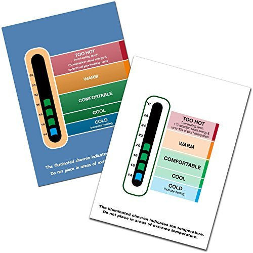 Twin Eco Pack Eco Room Thermometer Cards (White and Blue)