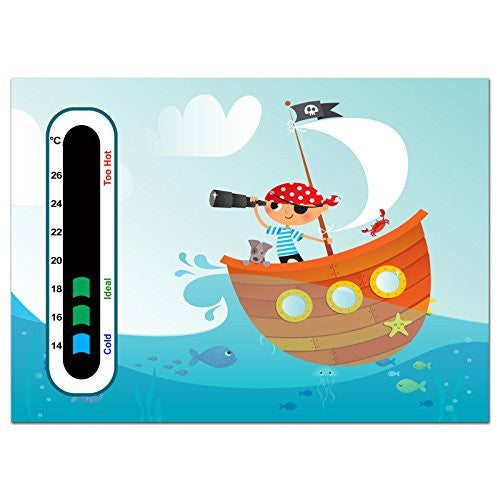 Baby Safe Ideas Pirate Nursery Room Thermometer - Using Latest Easy Read Colour Changing Technology