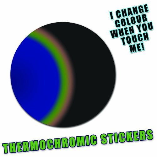 Colour Changing Liquid Crystal Thermochromic Circle Stickers - They Change Colour When You Touch Them!