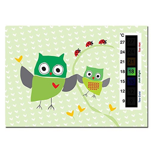 Baby Green Owl & Ladybird Nursery Room Safety Temperature Thermometer Monitor