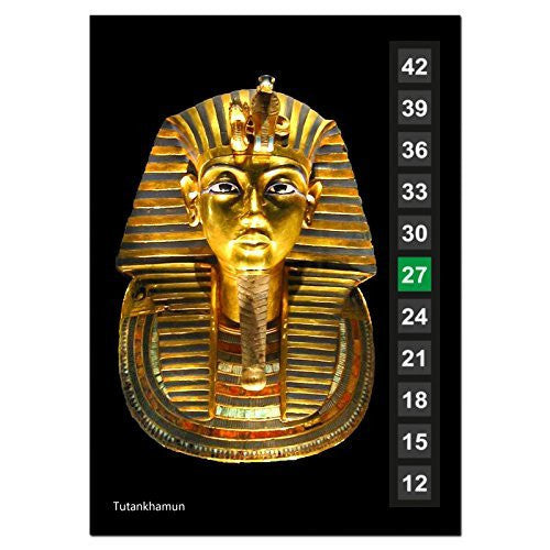 Large - Easy Read - Wide Range - Wall & Room Thermometer - Tutankhamun