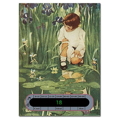 5 x Bargain Pack of Baby Nursery & Room Safety Thermometer cards - Girl by a Pond classic design