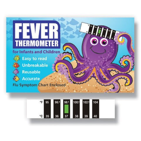 Octopus Baby Forehead Thermometer for Cold, Flu & Fever with Information Pack