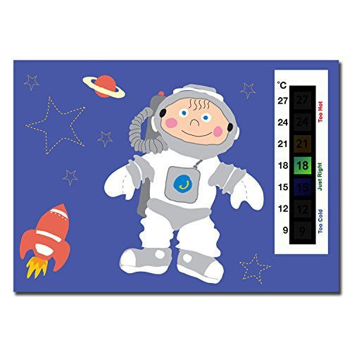Happy Family Spaceman Nursery Room Thermometer Card