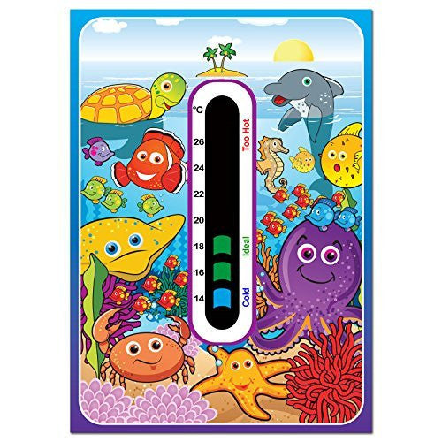 Baby Safe Ideas Marine Nursery Room Thermometer - Using Latest Easy Read Colour Changing Technology