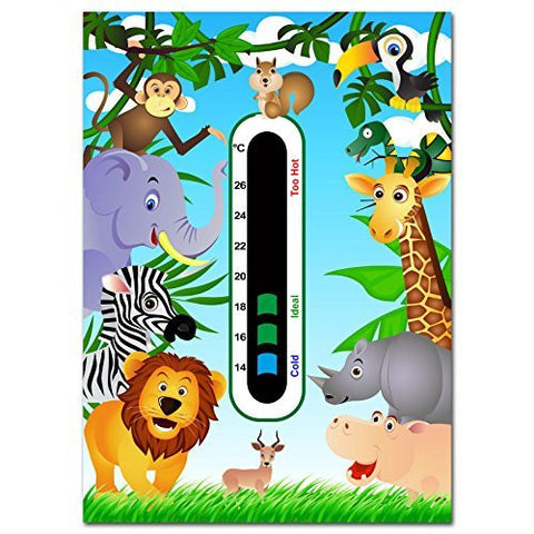 Baby Safe Ideas Jungle Animals Nursery Room Thermometer Card
