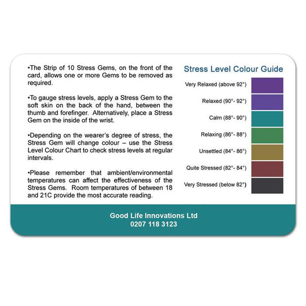Stressgems Stess Checker Mood Monitor Cards