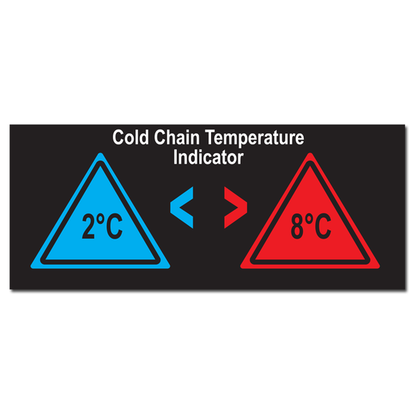 Cold Chain Temperature Warning Indicator - Pack of 5