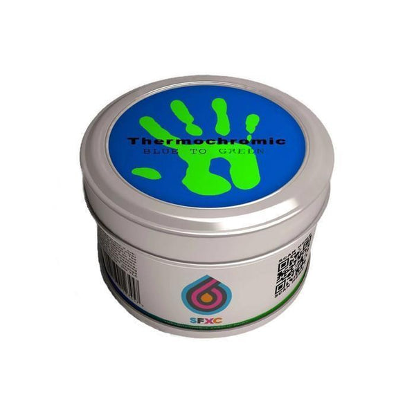 Thermochromic Acrylic Paint - Blue to Neon Green