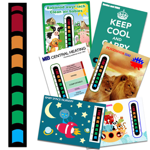 Thermometer stickers and strips