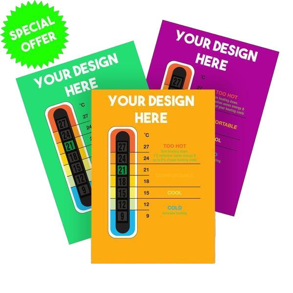 1000 Pack - Promotional Customisable Thermometer Cards