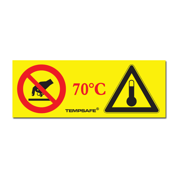 70°C Industrial Hot Warning Adhesive Labels