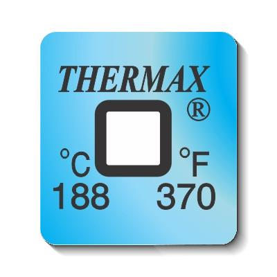 10 Pack - Thermax Irreversible Thermochromic Label 1 Level 188ºC