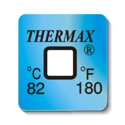 50 Pack - Thermax Thermochromic Irreversible Label 1 Level 82ºC