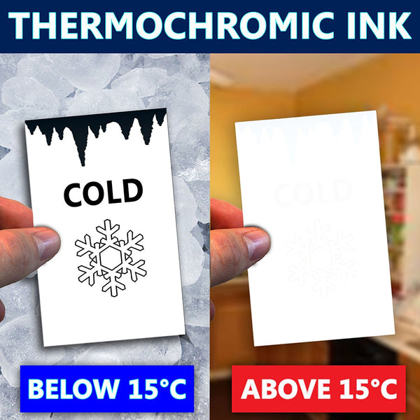 Thermochromic Temperature Sensitive Colour Changing Ink Paint - Chill & Reveal - Blue 15°C - For Screen Printing onto Fabric