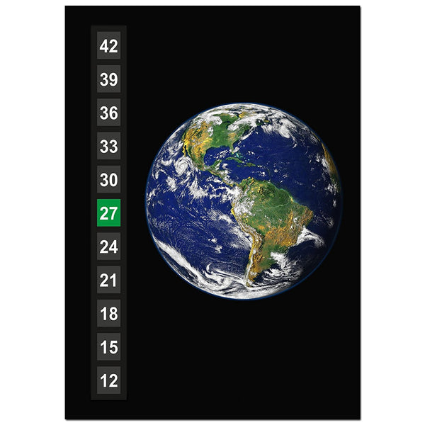 Large - Easy Read - Wide Range - Wall & Room Thermometer - Earth