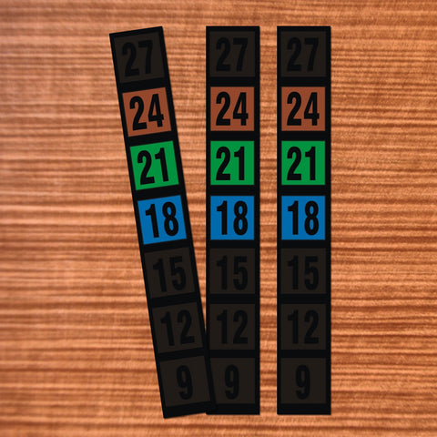 Make Room/Baby/Nursery Cards with these 3 Thermometer strips. Ideal to be used for business promotions and energy saving projects