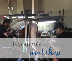 silversmith artisans in workshop in Bali Indonesia
