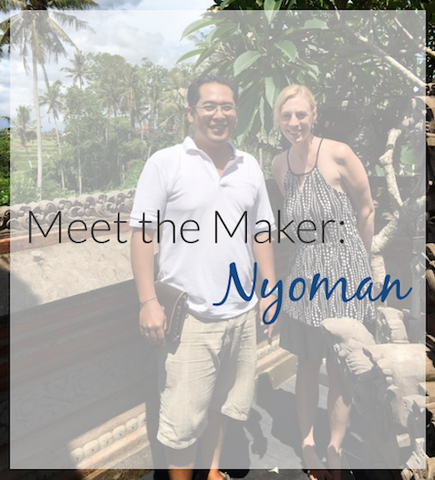 Meet Nyoman, the silversmith in Bali Indonesia who makes our fair trade sterling silver jewelry