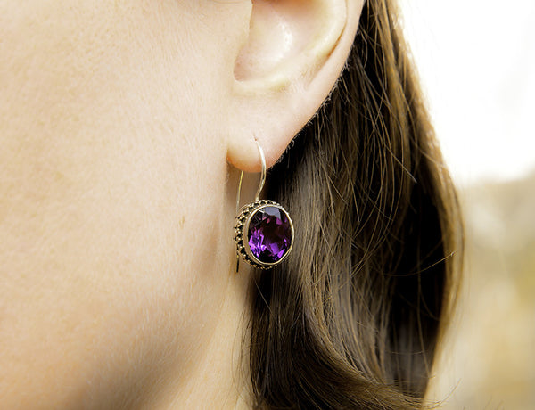 Permata Amethyst Earrings #135-a