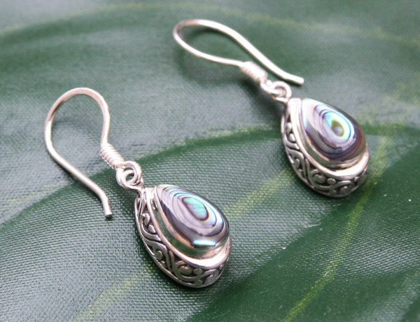 Antik Abalone Earrings #153-a