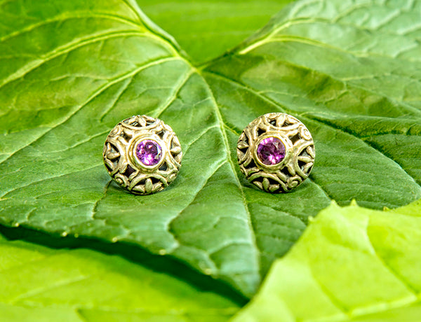 Pulau Amethyst Earrings #155-a
