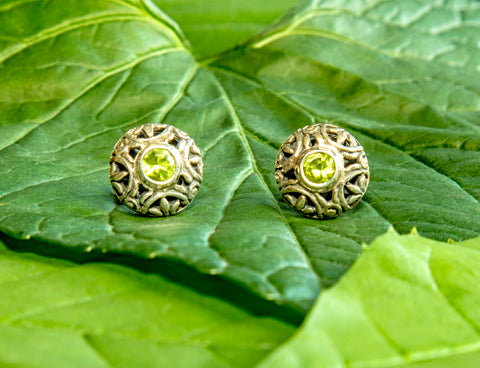 Pulau Peridot Earrings #155-b