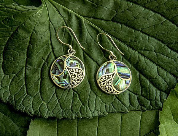 Saja Abalone Earrings #156-a
