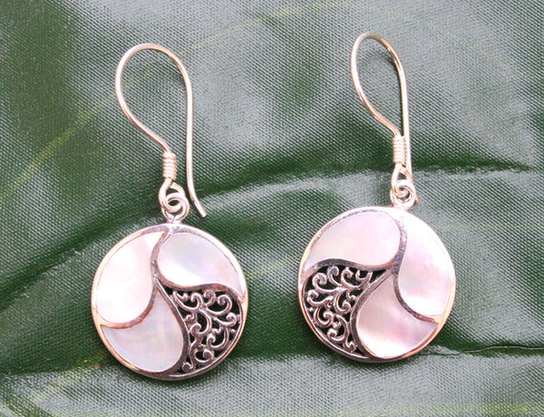 Saja Mother of Pearl Earrings #156-b