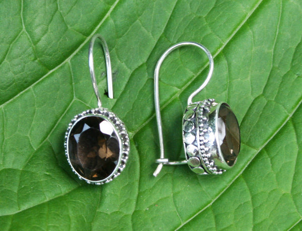 Permata Smoky Quartz Earrings #135-c