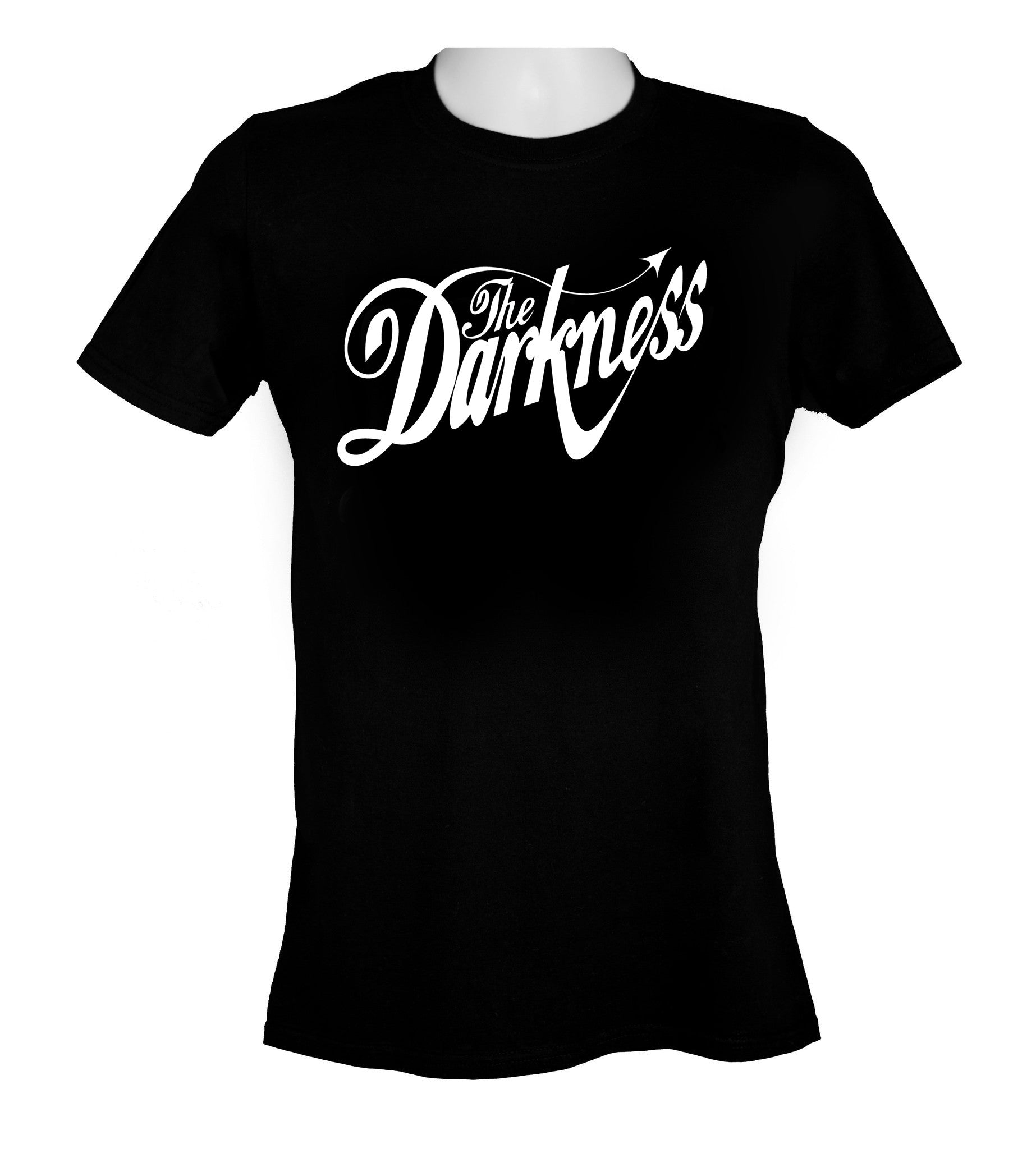 Classic original white logo on black T Shirt
