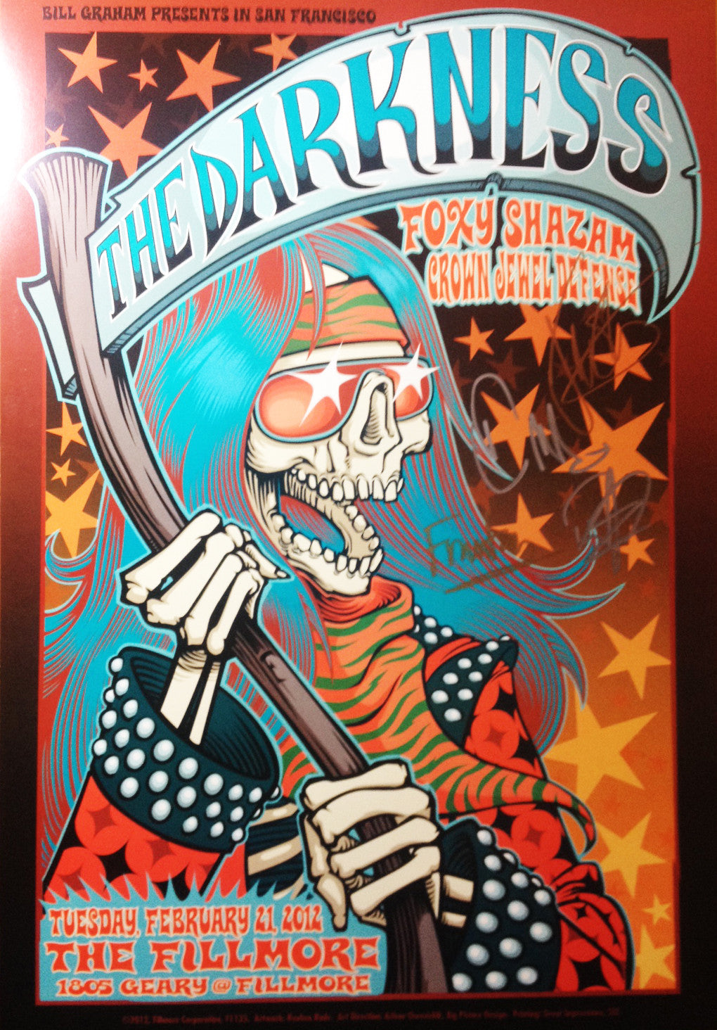 The Fillmore Limited Edition Signed Poster 2012