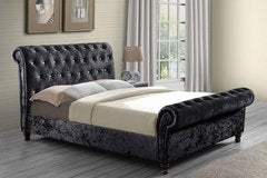 Chesterfield Velvet Upholstered Bedframe - FurnitureStop.co.uk