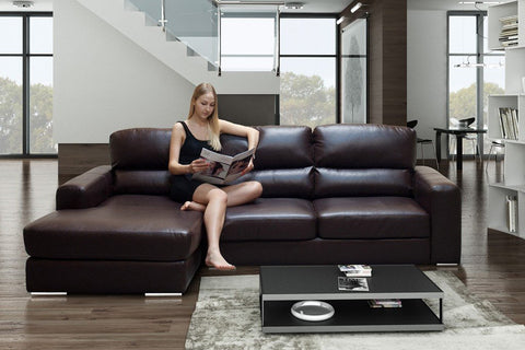 WAGNER BONDED LEATHER CORNER SOFA