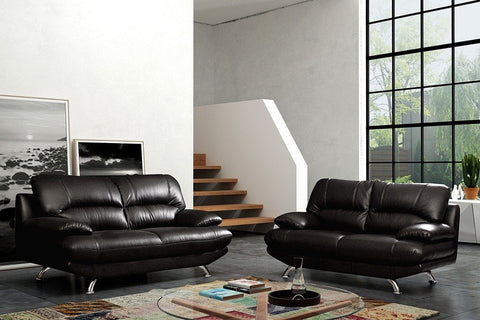 BAVARIA 3 + 2 SEATER SOFA SET LEATHER