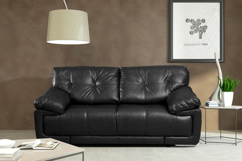 SANTINO 2 SEATER SOFA BONDED LEATHER