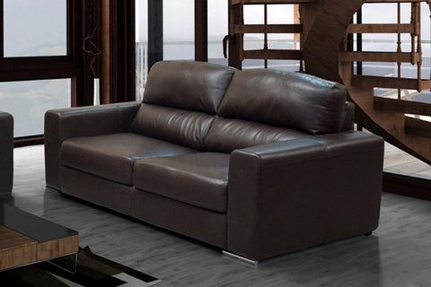 WAGNER 2 SEATER SOFA BONDED LEATHER