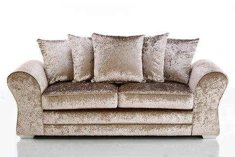 JUPITER 3 SEATER FABRIC VELVET SOFA