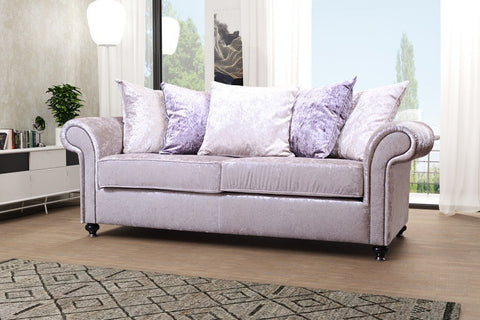 JACKSON 3 SEATER SOFA FABRIC SCATTER BACK