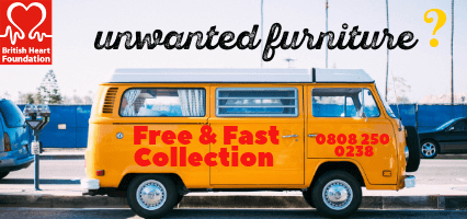 Free Collection Unwanted Furniture - Help the BHF