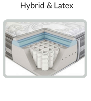 Hybrid % Latex-Mattress