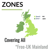 ALL UK MAINLAND ZONE 0 (FREE SHIPPING) ZONE 1 (SMALL SURCHARGE)