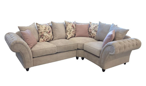 Roma Chesterfield Corner Fabric Sofa