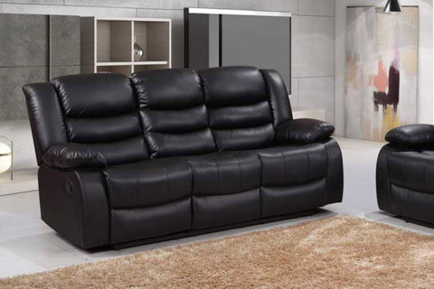 Romano 3 Seater Sofa Recliner Bonded Leather