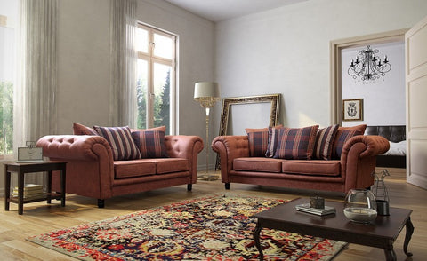 Woodland Tan 3+2 Seater Suede Sofa