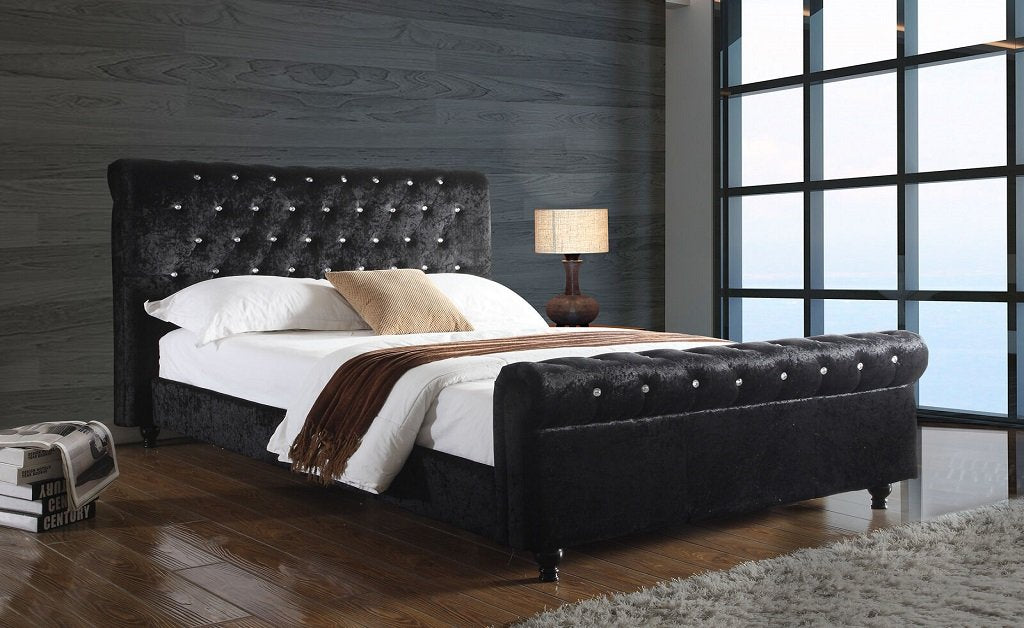 Solomon Chesterfield Crushed Velvet Bed (1793779761215)