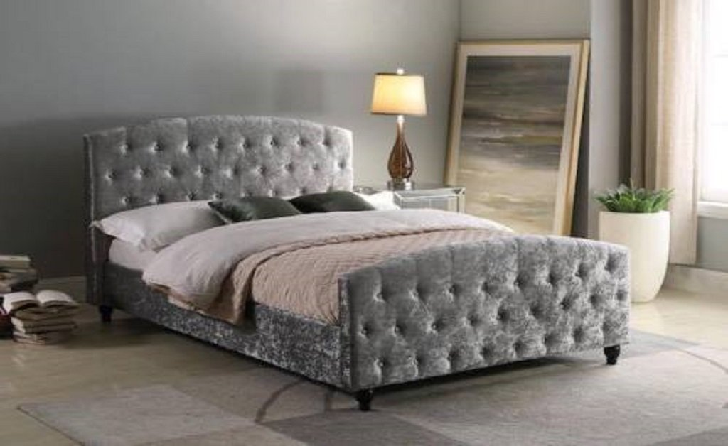 Victor Crushed Velvet Bed Frame 4ft6 (1792045088831)